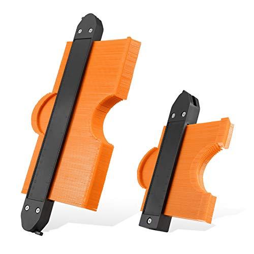 Konturenlehre Kontur mit Schloss 250mm&125mm Vervielfältigungslehre(Aktualisierte Version) Präzise Kopie unregelmäßiger Form Duplizierer Unregelmäßiges Schweißen Holzbearbeitung Tracing
