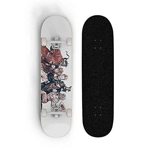 Tablero Profesional Doble Tilt Skateboard Motkateboard para JoJo's Bizarre Adventure, Skateboard 31 Pulgadas 8 Pulgadas Scooter Principiante Adulto, Monopatín para Principiantes