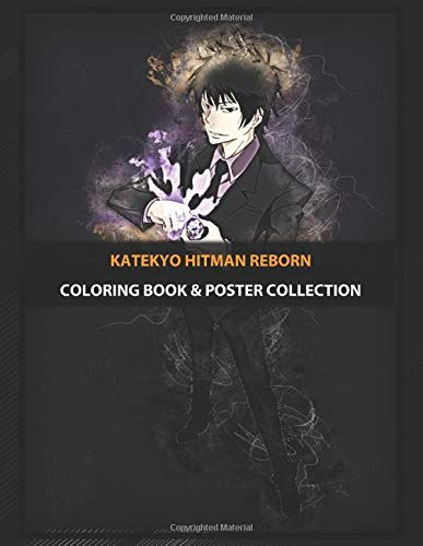 Coloring Book & Poster Collection: Katekyo Hitman Reborn Hibari Anime & Manga
