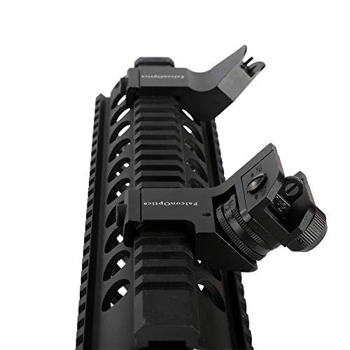 FalconOptics Canted Sights 45 Degree Rear Sight and Front Sight Iron...