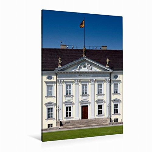 CALVENDO Premium Textil-Leinwand 80 x 120 cm Hoch-Format Berlin Schloss Bellevue, Leinwanddruck von Melanie Viola