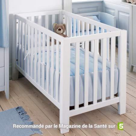 Alfred & Compagnie Lit bébé banquette bois massif 60x120
