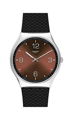 Swatch Reloj Analógico para Hombre de Cuarzo con Correa en Goma SS07S107
