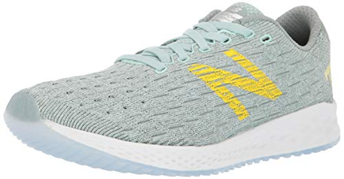 New Balance Women's Fresh Foam Zante Pursuit V1 Running Shoe, White Agave/Cedar Quartz/Sulphur Yellow, 11 W US