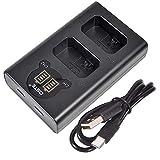 DSTE Dual USB Cargador con Pantalla LCD Compatible para NP-FW50 y Sony ZV-E10, Alpha 7, a7, Alpha 7R, a7R, Alpha 7R II, Alpha, a6000, NEX-7, SLT-A55V, DSC-RX10 Digital Cámara