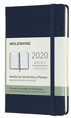 Moleskine - Agenda Semanal Horizontal de 12 Meses 2020, Tapa...