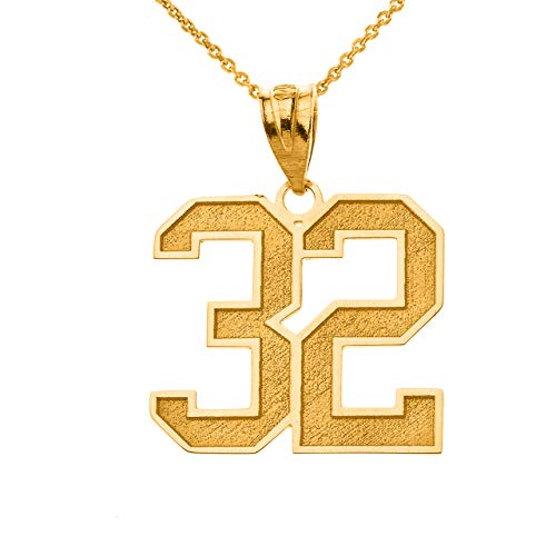 Sports Jersey 10k Gold Personalized Engraving Included with Your Lucky Number and Name, 22'