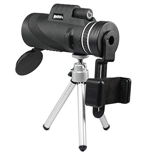 HXZB Monoculars ramasser caméra téléphone Mobile Enfants 40X60 Haute définition Vision Nocturne Mini-Vision Lunettes Outdoor Portable-Noir