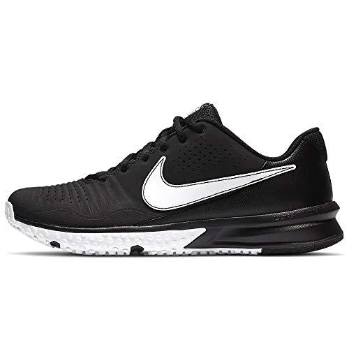 Nike Mens Alpha Huarache Varsity 3 Turf Baseball Shoe, CK6208-003 (Black/White, Numeric_8_Point_5)