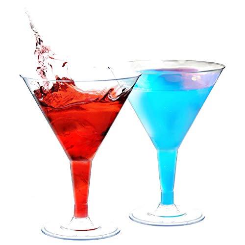 48 Mini Copas Premium de Martini Desechables, 70 ml - Polietireno Transparente, Duraderas y Resistentes - Reutilizables, Reciclables - Copas de Cóctel para Fiestas, Celebraciones, Cumpleaños, Navidad.