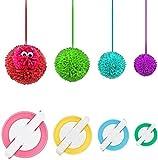 Pom Pom Maker, DIY Pompoms Artesanía Doll haciendo Kits-Hilado de lana Knitting Craft Tool Set Fabricante de pom-pom para niños y adultos -Pom Pom Maker (4)