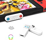 DRILI Bluetooth Adapter for Nintendo Switch & Lite,5.0 C Wireless Audio Transmitter with aptX LL, Support Dual Connections Compatible with Switch & Lite, PS4 PC Laptops for Bluetooth Device