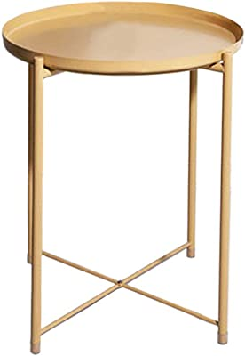 Awesome Amazon Com Hollyhome Tray Metal End Table Sofa Table Small Theyellowbook Wood Chair Design Ideas Theyellowbookinfo