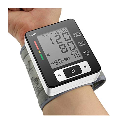 Automatic Wrist Blood Pressure Monitor Heart Beat Meter Machine LCD Digital Display Accurately Measure Battery Operation Accessories Dining Features Kitchen