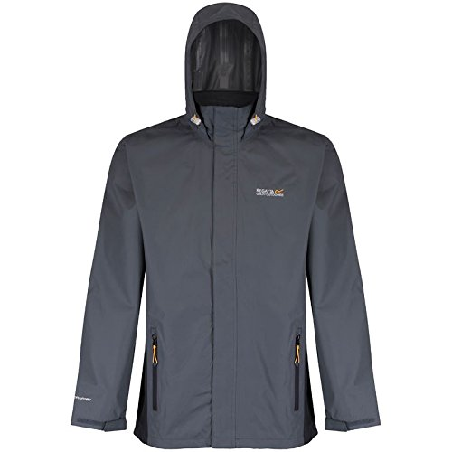 Regatta Matt Veste imperméable Homme, Seal Grey/Blue, 2 XL