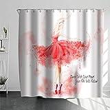 DQGZYF Ballerina Duschvorhang Polyester wasserdicht & schimmelfest Home Badezimmer Badewanne Dekoration 180 * 180cm