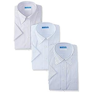 [ドレスコード101] ノーアイロン 半袖 ワイシャツ 3枚セット 洗って干してそのまま着る 綿100% の優しい着心地 クールビズスタイルでかっこいいデザイン シーンを選ばない 高形態安定 EHTO01-3SET メンズ ビジカジ×3枚セット 首回り45cm