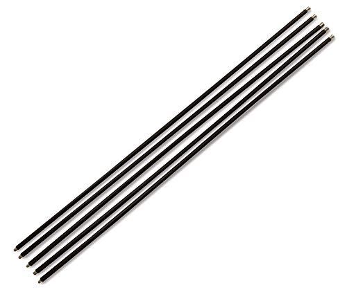KIBROS 5KIT5CN14 – Juego de 5 cañas negras para deshollinar, complemento o alargador de kits de chimeneas, longitud 7 m…