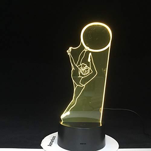 Tanzball Moden Dancing Girl Kreative Leuchte 109 Nachtlicht 3D LED Tischlampe Kinder Geburtstagsgeschenk Nachtzimmer Dekoration
