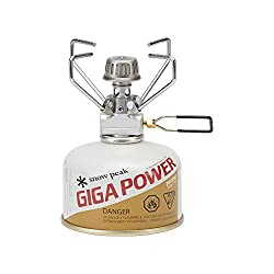 Snow Peak GigaPower Stove Manual - Lightweight & Durable Camping Stove - Stainless Steel - 2.64 oz