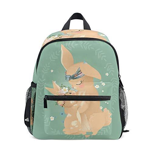 Kinderrucksack Süße Mutter Hase Kindergarten Vorschul Tasche für Kleinkind Mädchen Jungen