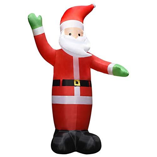 Festnight Papá Noel de Navidad Inflable XXL Soplador Alta Presión Papá Noel Inflable de Navidad con luz LED Navidad Decoración 10 m