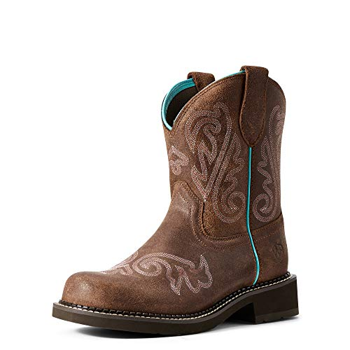 Product Image 1: ARIAT Women's Collection Cowboy Fatbaby Leather Western Boots, Heavenly Brushed Brown, 5.5