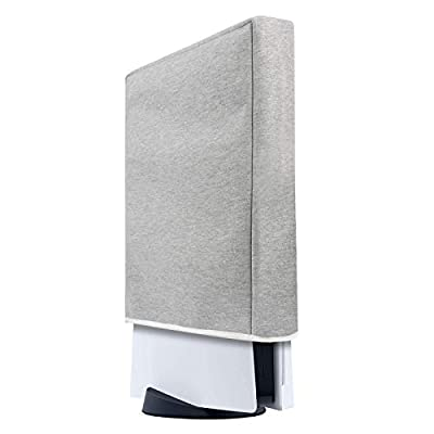 PS5 Console Dust Cover Custom Designed for Playstation 5 Console Thick Cotton Precision Cut Easy Access Cable Port
