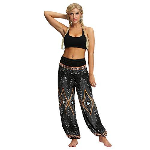 HWTOP Hosen Yogahosen Herren Damen Sporthose Pumphose Männer Frauen Haremshose Freizeit Trouser Lose Hippy Yoga Hose Baggy Boho Aladdin...