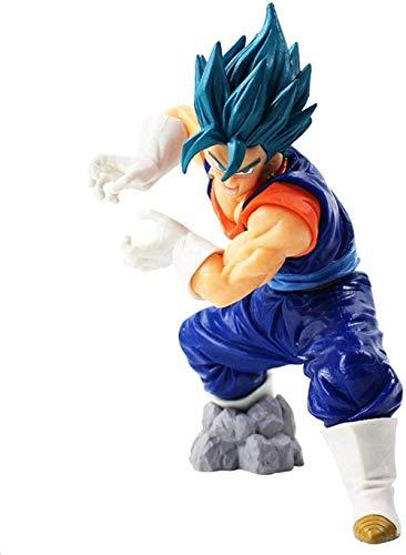 Cheaaff YZONCD Dragon Ball Super Saiyajin Dios SS Vegetto Final Kamehameha Son Goku Vegeta Dragonball Z Figura de acción de PVC Modelo de Juguete 20cm