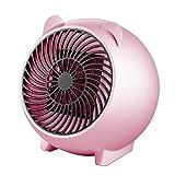 YusellYu - Calefactor portátil de Escritorio, diseño de Dibujos Animados, para la Oficina y el hogar, Rosa, US