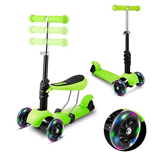BAODAN Scooter 2 in 1 | Roller Für Kinder | Scooter 3 Räder Kinder | Fahrrad ohne Pedale | Kinderscooter...