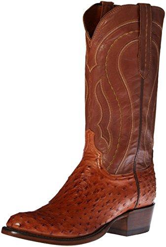 Lucchese Classics Men's Montana Burn F.q. Ost Ranch Riding Boot, Tan Burnish, 11 2E US