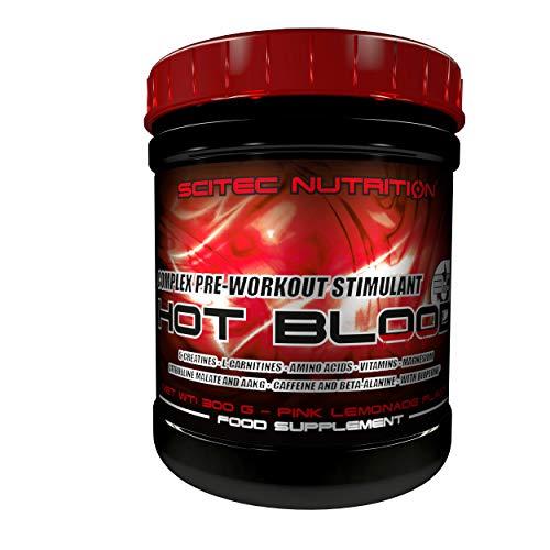 Scitec Nutrition Hot Blood 3.0 Complex Pre-Workout Stimulant Powder - 300g, Pink Lemonade
