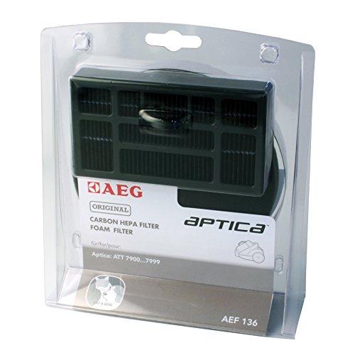 AEG AEF136 Filter-Set für beutellose Staubsauger (1 Motorfilter, 1 Hygienefilter, saubere Luft, Anti-Geruch, ideal für Haustierbesitzer, passgenau, Hepa Filter für AEG Aptica TT & Vampyr T10, schwarz)