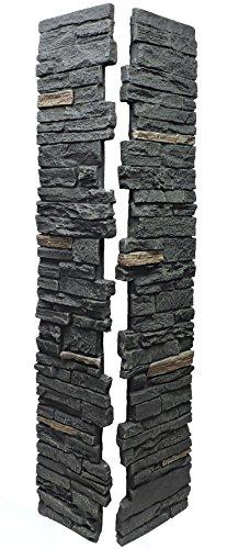 NextStone Slatestone Split Post Cover 8x8x41 Midnight Ash