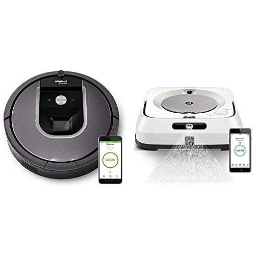 Best Price! iRobot Roomba 960 Robot Vacuum with Braava Jet M6 (6110) Ultimate Robot Mop