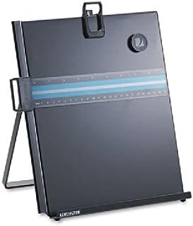 Kensington 62046 Letter-Size Freestanding Desktop Copyholder, Stainless Steel, Black (KMW62046)