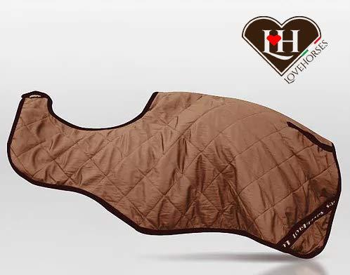 LOVEHORSES Rückenwärmer Nierenschutz Ausreitdecke für aus Bio-Keramik Wärmetherapie - Bio-Keramik Standard 100 by Oeko-TEX® Zertifiziert (cm 155, Camel BEIGE)