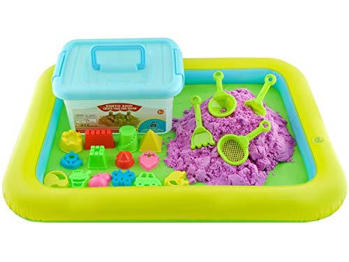 ISO TRADE Magica Arena Cinética para niños - 2 kg - Piscina de Arena + moldes #4511