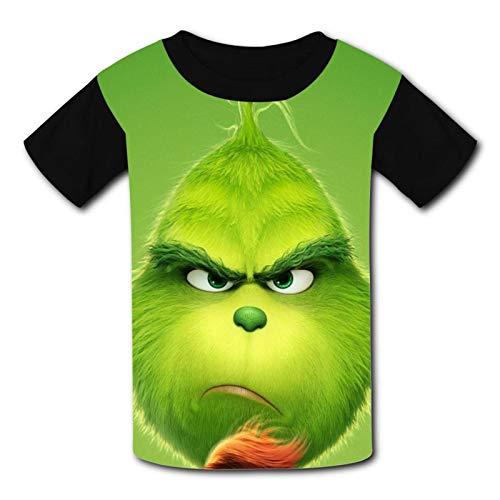 Cartoon Jo-ker Kinder-T-Shirt, Neuheit, bequem, 3D-Grafik, kurzärmelig, Tops T-Shirt für Jungen und Mädchen Gr. XS, Green Grin-ch