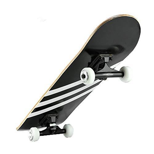Skateboard Deck Erwachsene Kinder Skateboard Kompl Skateboard, Allrad Double Rocker Road Brush Street Skateboard Erwachsene Kinder und Jugendliche Anfänger Profi Ahorn Longboard Flash Roller Yiyao