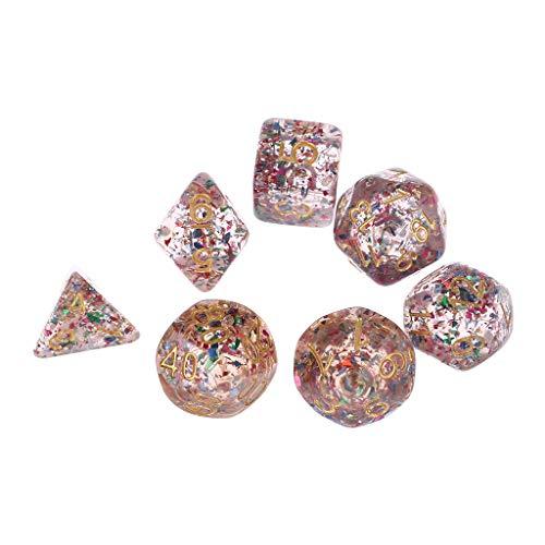 Ncbvixsw 7 Stück/Set Polyedrisches Mehrseiten Zahlen Würfel Rollenspiel Brettspiel Für Bar Pub, Lustiges Und Exquisites Spiel Liefert Spielzeug