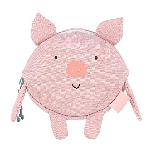 LÄSSIG Kinder Bauchtasche Gürteltasche ab 3 Jahre/Mini Bum Bag About Friends, Bo Pig, Schwein, 14 cm