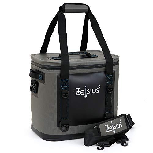 Zelsius Sac Isotherme Souple Gris 20 litres | léger et imperméable | Sac de Pique-Nique | Sac isolé pour Les Vacances en Voiture-Camping pêche Loisirs en Plein air