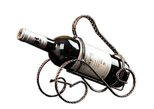 PANDA SUPERSTORE [Ratta] Ironwork Creative Wine Rack Storage Organizer Display Holder Bronze
