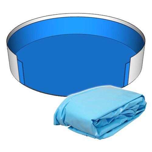 Poolfolie Innenhülle Rund Pool 360 x 90 cm - 0,6 mm blau Rundbecken 3,60 x 0,90