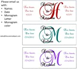 300 Monogram Bubble Labels/personalized Wedding Stickers/wrappers