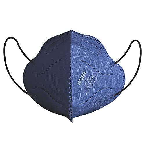 IDOIT 40 Stück CE zertififizierte FFP2 Maske blau, Einzeln verpackte Atemschutzmaske,Mund- und Nasenschutz Einwegmasken mit 5-lagiger Filterung