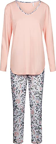 Rösch Damen-Schlafanzug Jersey Flieder/rosé Größe 46